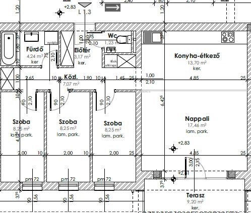 Újépítésű, modern, első emeleti lakás Kozármislenyben