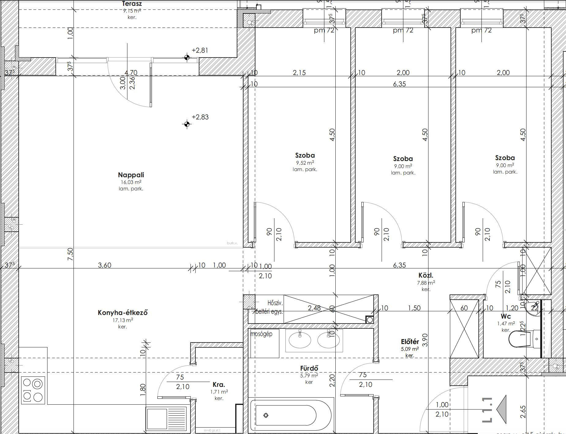 Újépítésű, modern, első emeleti lakás Kozármislenyben(a lakás vételára tartalmazza a gépesített konyhabútort, a beépített szekrényt és az árnyékolástechnikát)